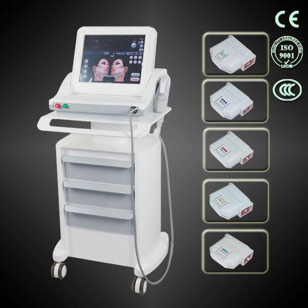 2 in 1 hifu face lift and hifu body slimming beauty machine with 5pcs cartridges
