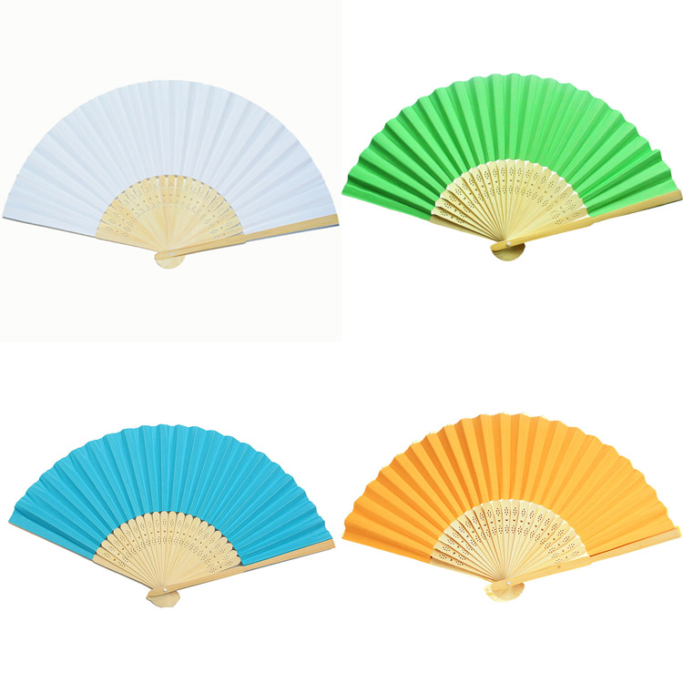 wholesale Chinese style bamboo paper fan