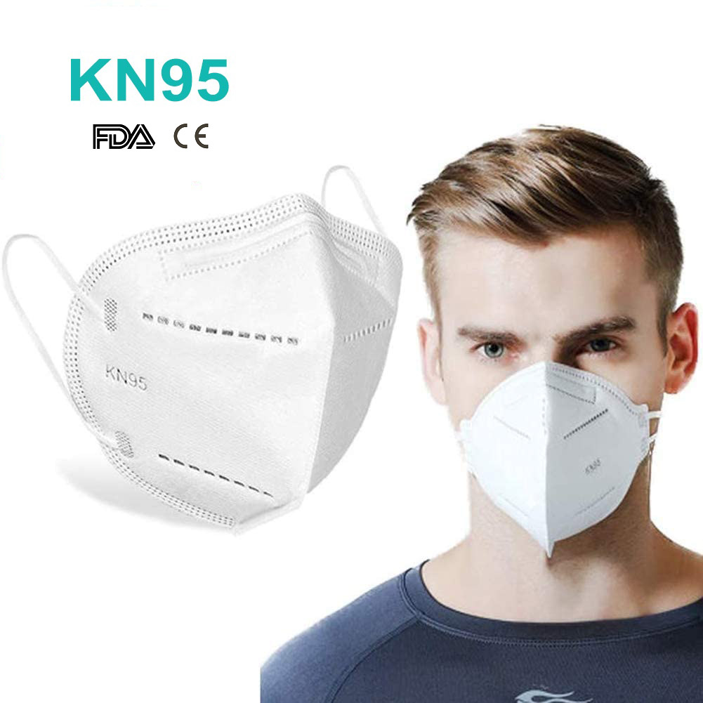 COVID-19 Anti-virus Protective Disposable Face Mask CE FDA KN95 Respirator Dustproof Filter Mask