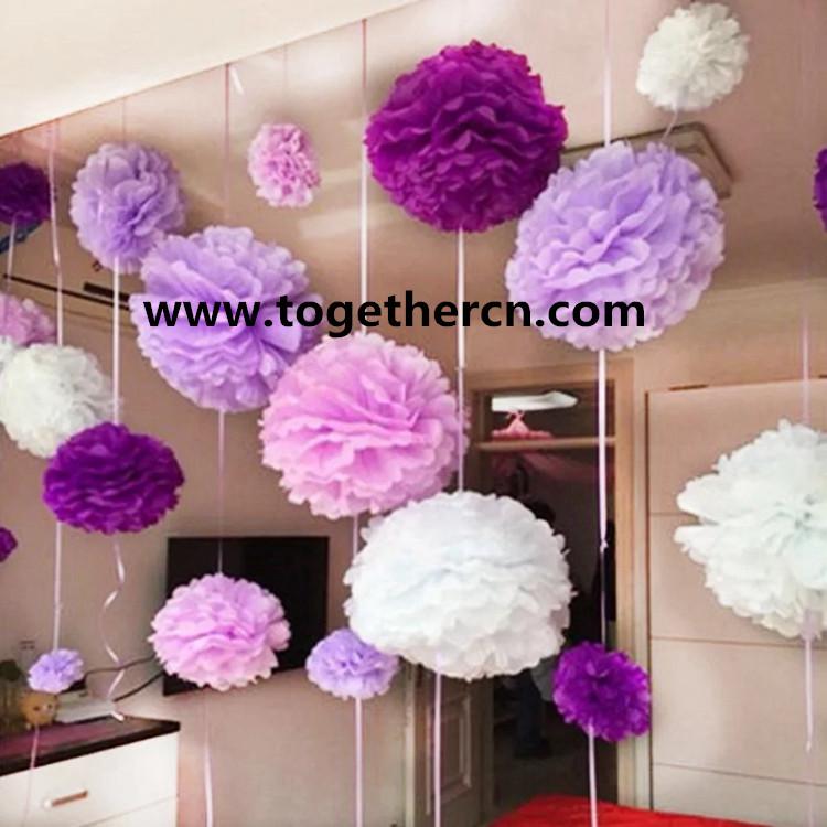 wholesale wedding paper flower ball