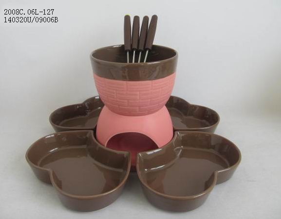 hot sale tableware chocolate fondue set