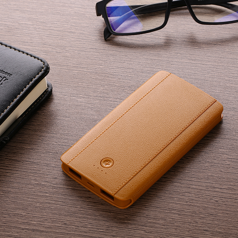 Latest factory direct sale personalized rechargeable pocket 6000mah power bank with portfolio