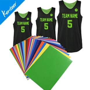PU stickers for jersey accessory heat transfer type 12pieces a lot with A4 size