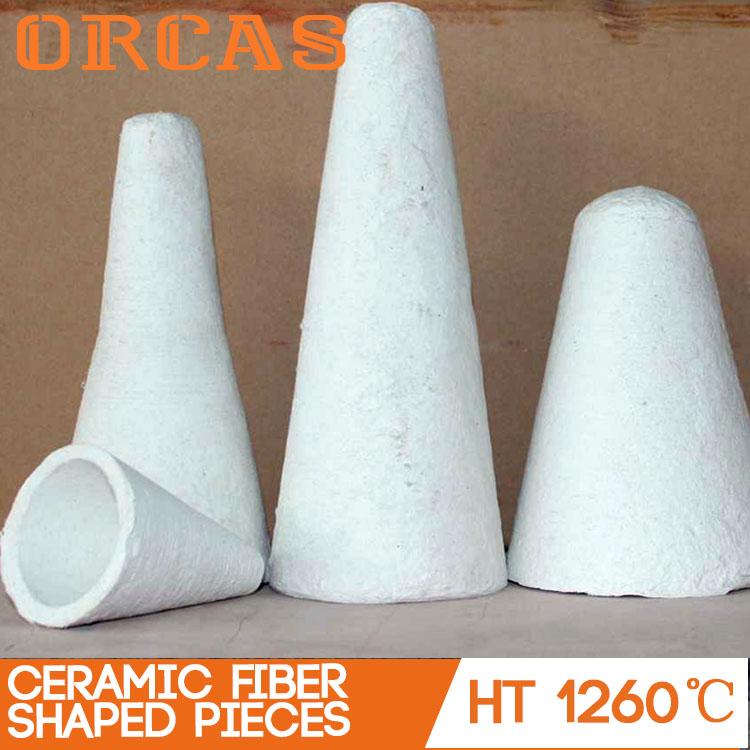 Aluminum silicate ceramic fiber foundry riser sleeve for furnance