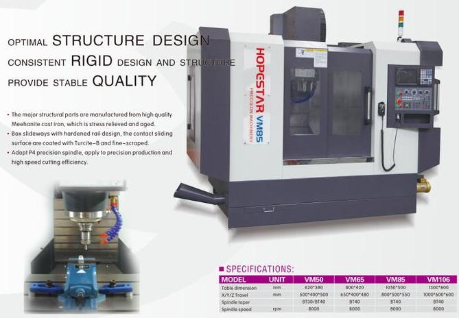 VM series precision cnc machining center