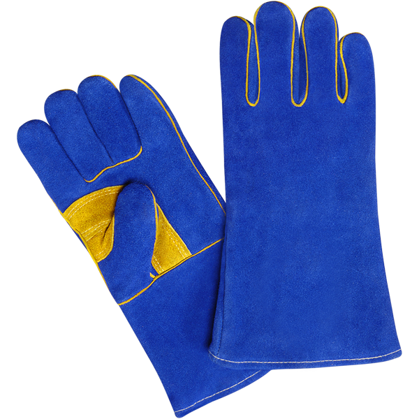 Welding Gloves, Made of Split Leather, Inside Lining, Welted
