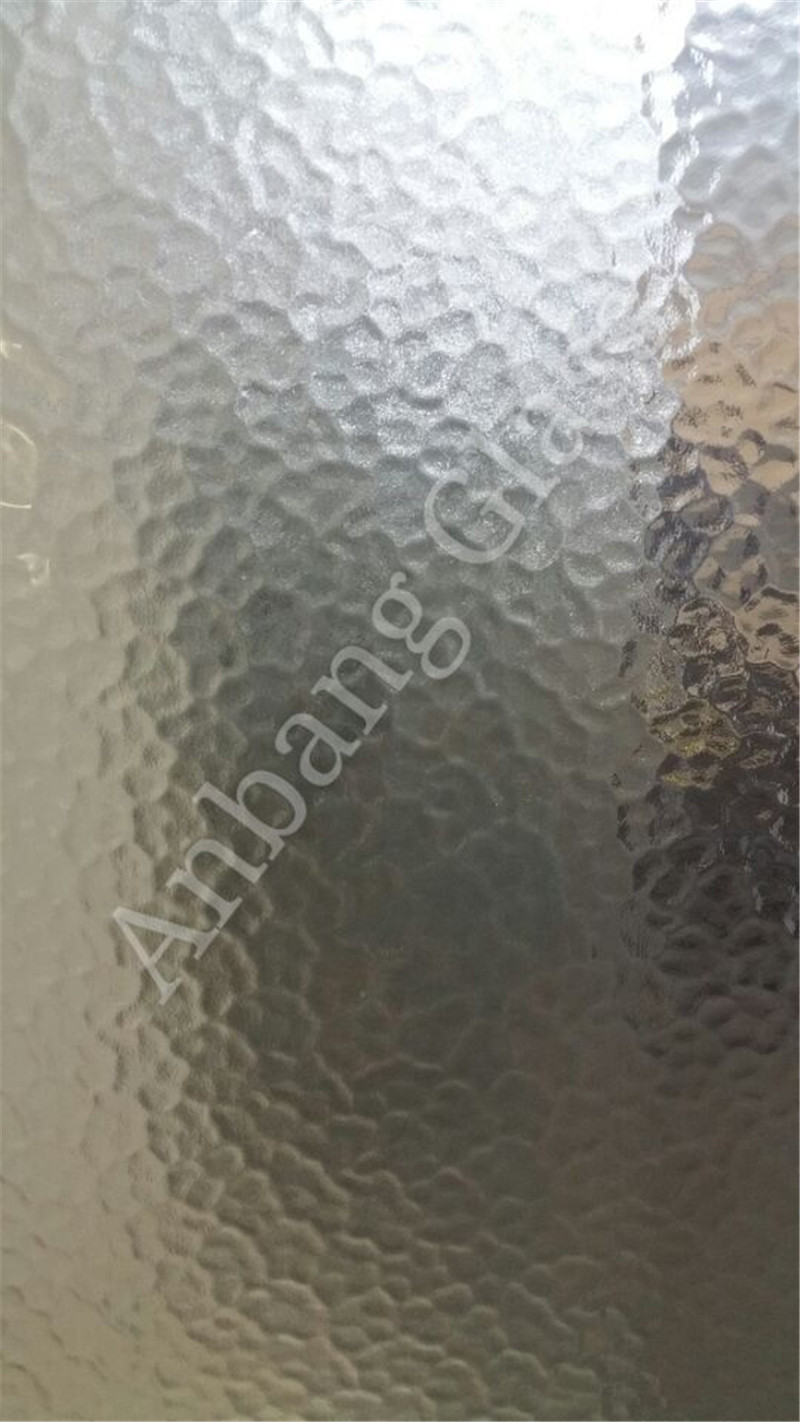 Clear Nashiji Diamond patterned figured glass from glass factory with best price