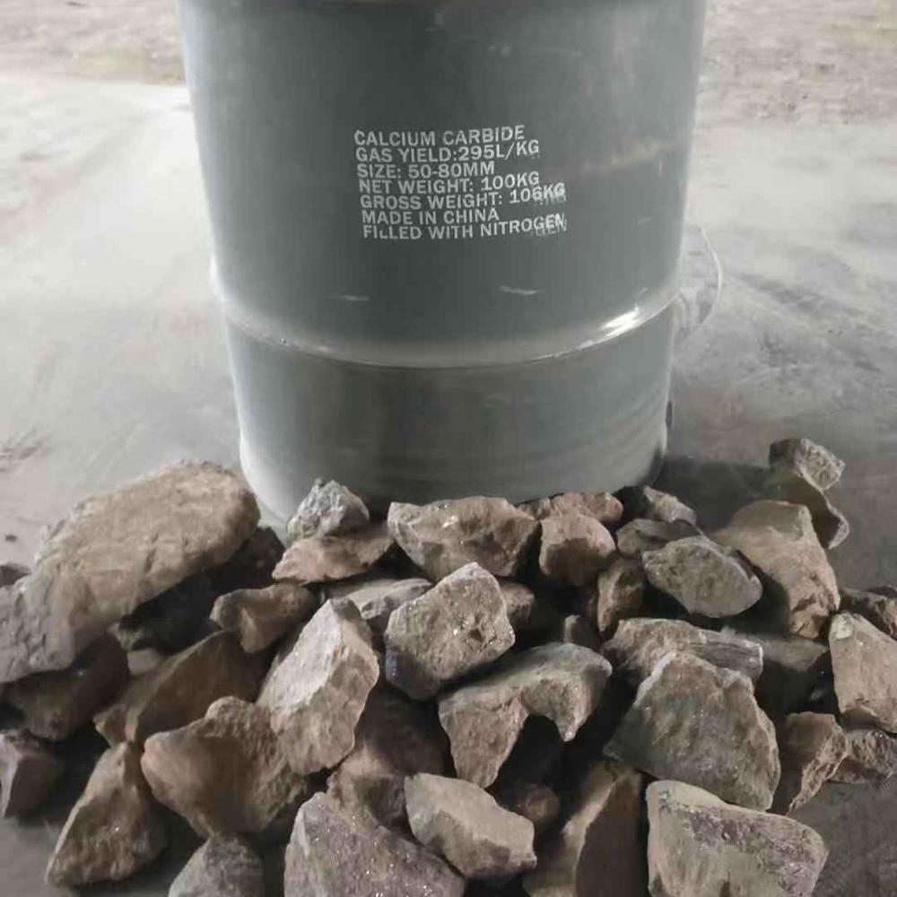 calcium carbide 295L/KG 50kg/drum 10kg/drum