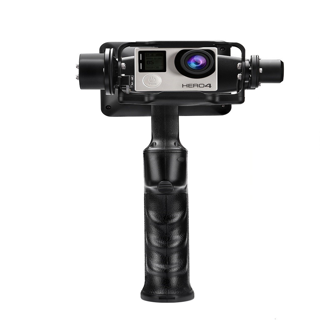"GP1+ Handheld Gimbal Adventure Camera Stabilizer with 3.5"" LCD Built-in Monitor for GoPro Hero 3 3+"