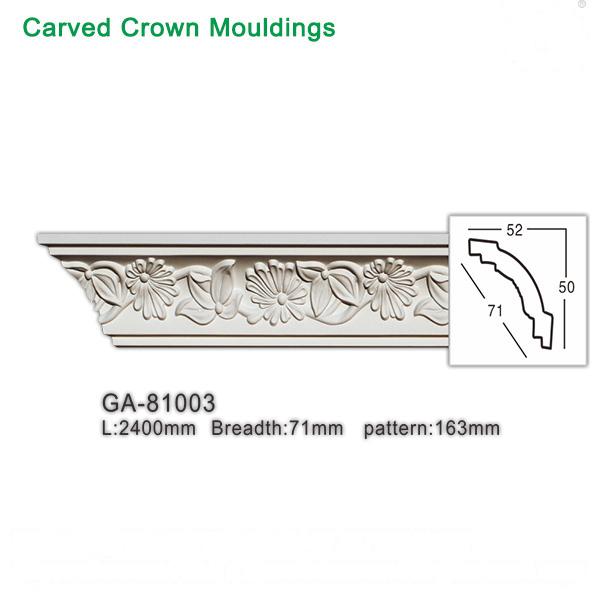 Acanthus leaf decorative ceiling molding (polyurethane)