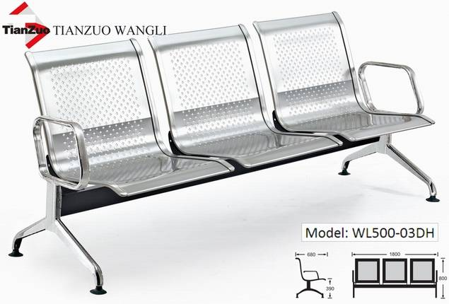 Steel Bench Seats : Stainless steel seating bench waiting room chairs link
