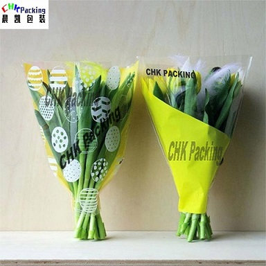 China CHK Packing biodegradable PLA flower sleeves, floral bouquet sleeves