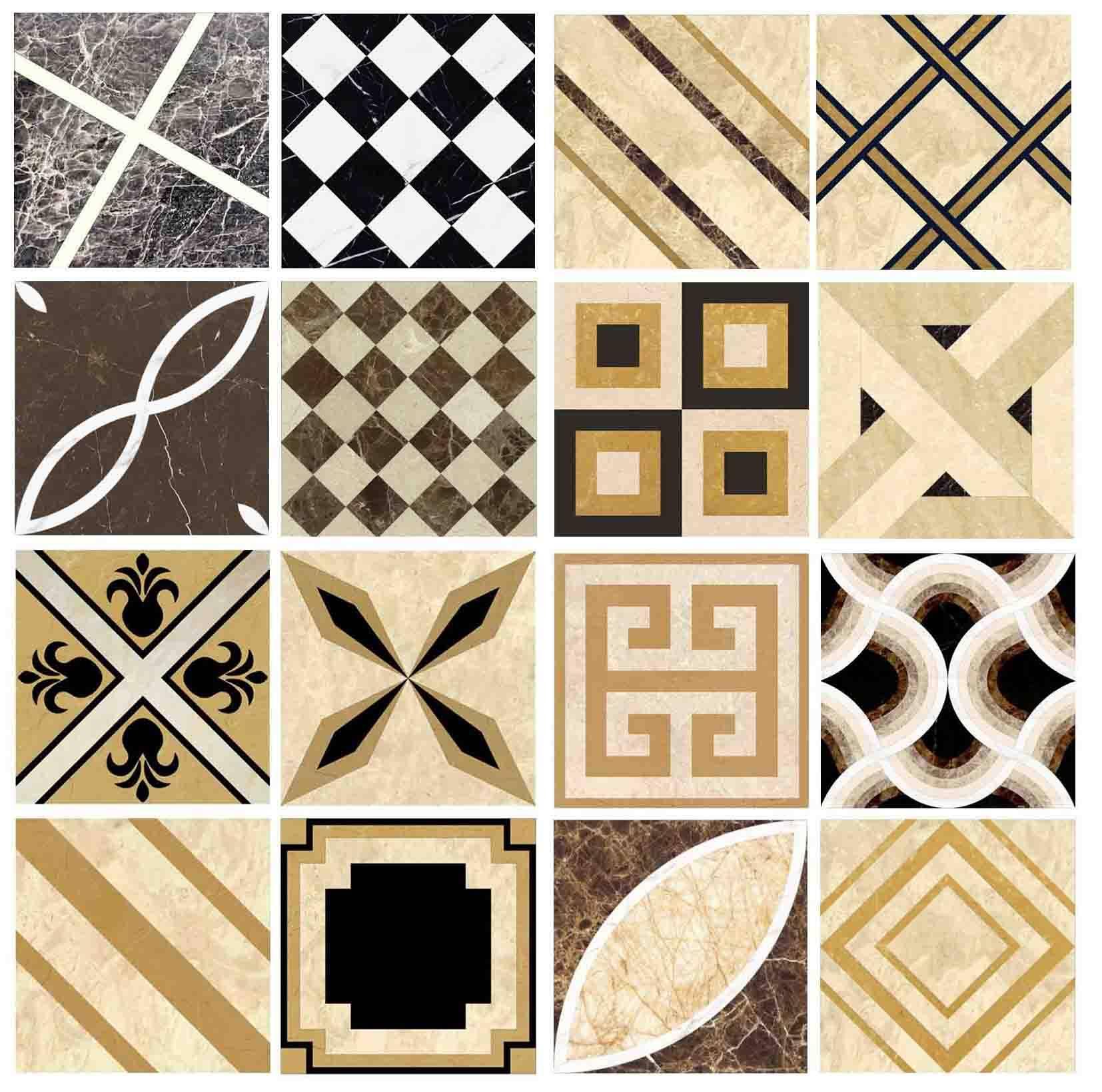 Tile floor decor