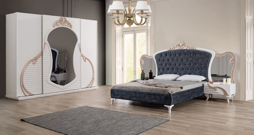 Competitive Price Luxury Modern 2017 High Quality Bedroom Set