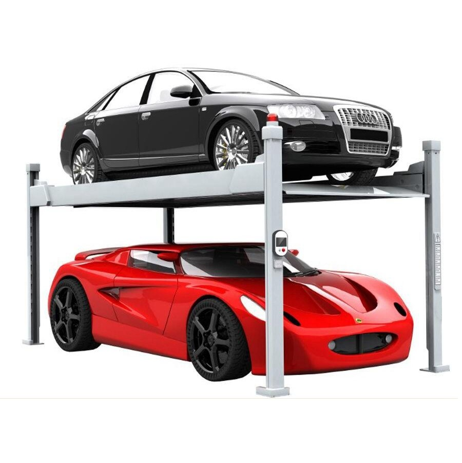 Four post car elevator hydraulic car smart parking lift systems price
