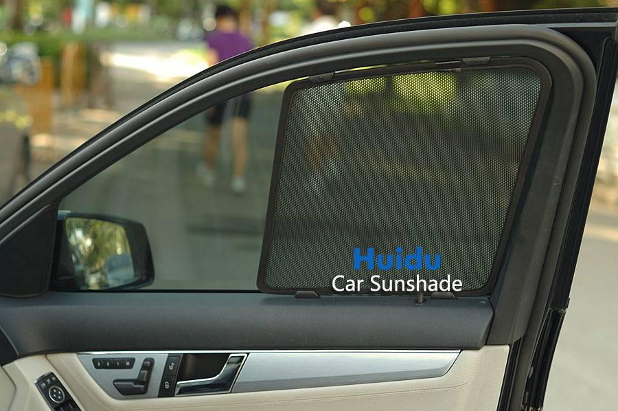 Magnetic mesh car window blinds Huidu car sunshade