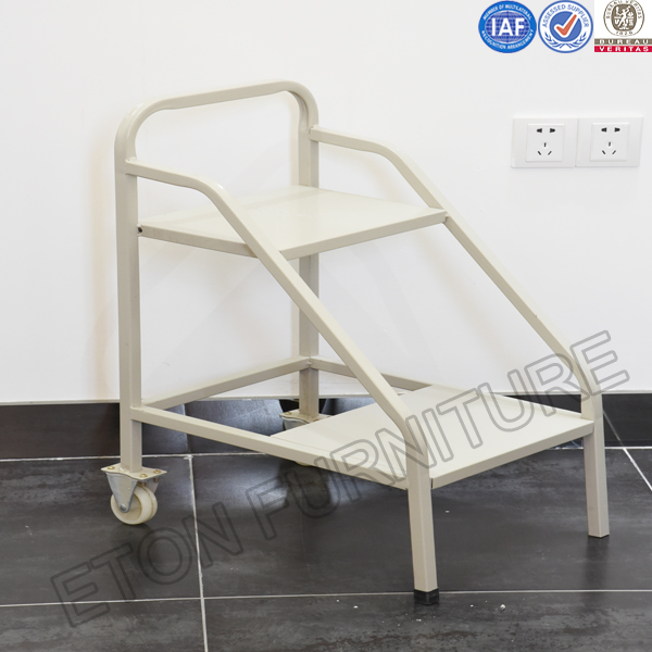 Steel 2 Step Mobile Ladder with modern design