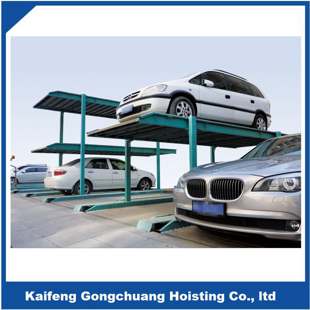 inground 4 post hydraulic car parking electric lift system