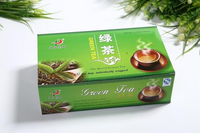 Chinese Premium non-fermented XiHuLongJing Green Tea(100 tea bags/box)