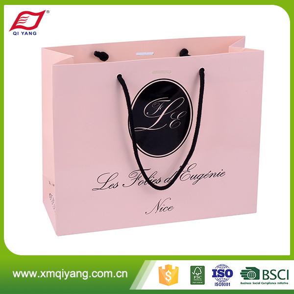 Wholesale cheap custom printing jewelry brown advertising paper bag