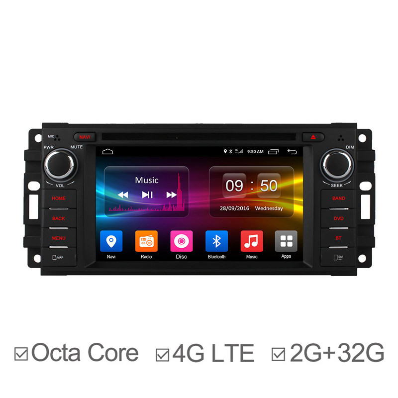 Android 6.0 Octa Core In Car Navigation for Chrysler Dodge Jeep