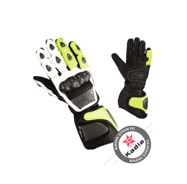 Kadia Leather Motorbike Gloves knucle projection