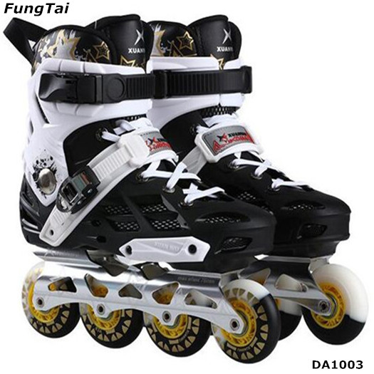 Inline Roller Skate Shoes Free-Line for Adults Both Men And Women with 4 wheels 72 76 80mm (DA1003)