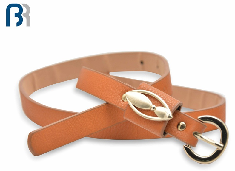 Ladies Metal Loop PU Belt