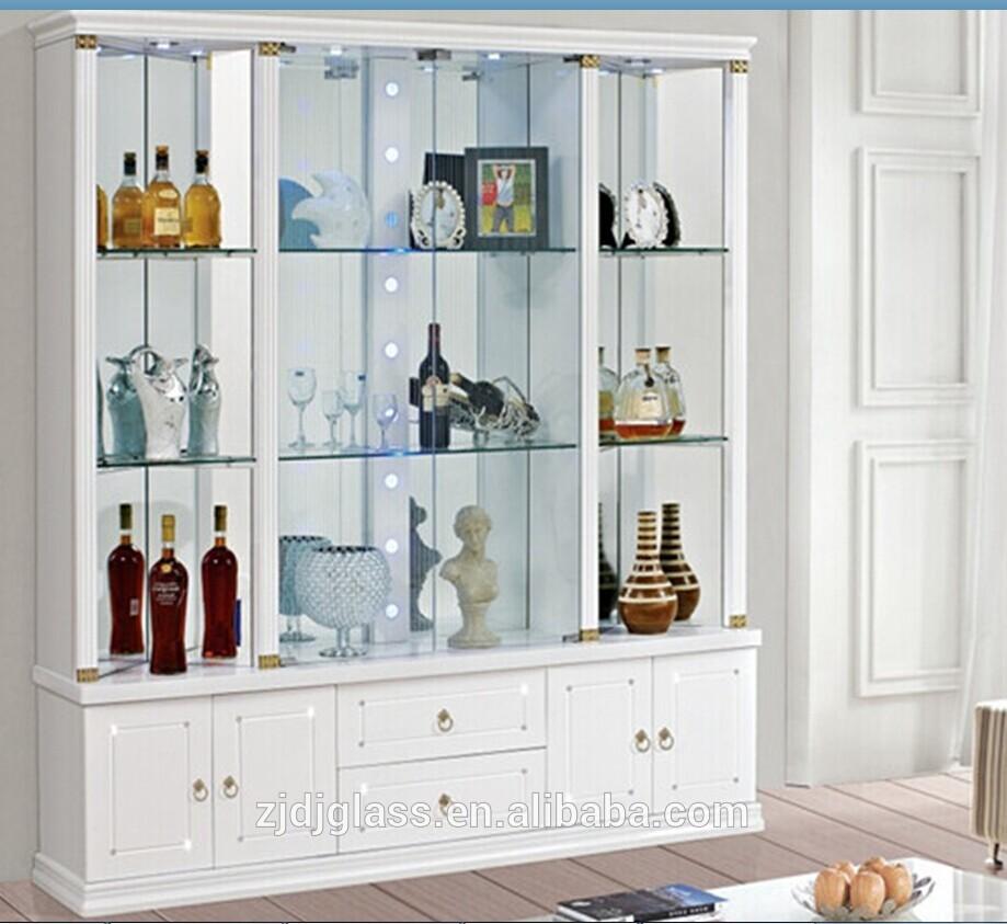 Home decorative showcase glass