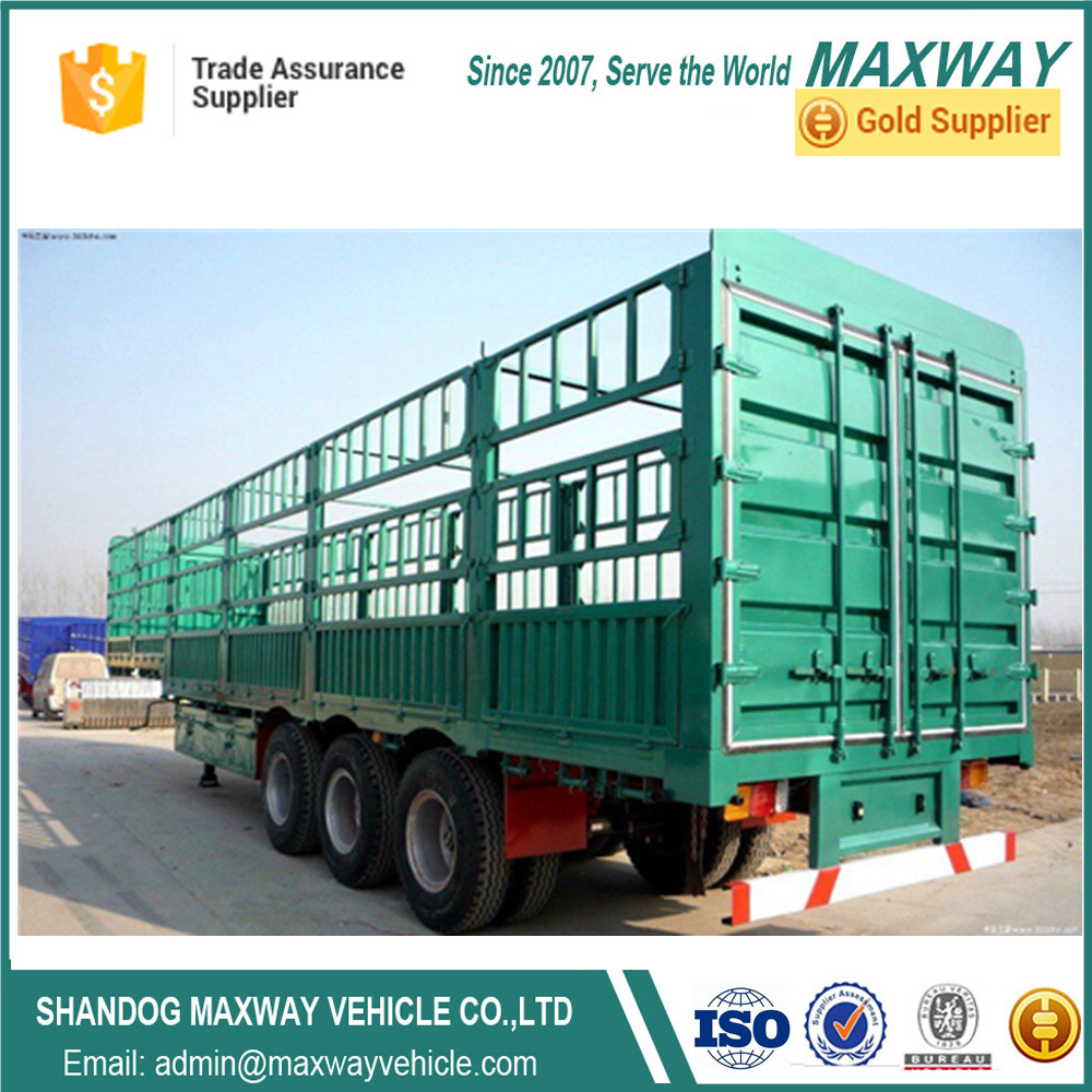 China Maxway Cargo Fence Semi Truck Trailers for Sale