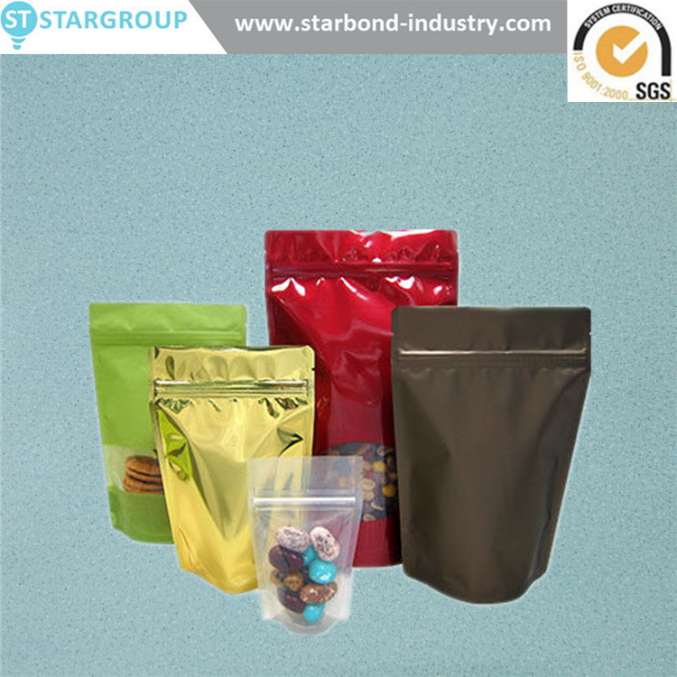 Flexible Laminated stand up Complex 3 sides heat seal sea food bags vacuum packaging