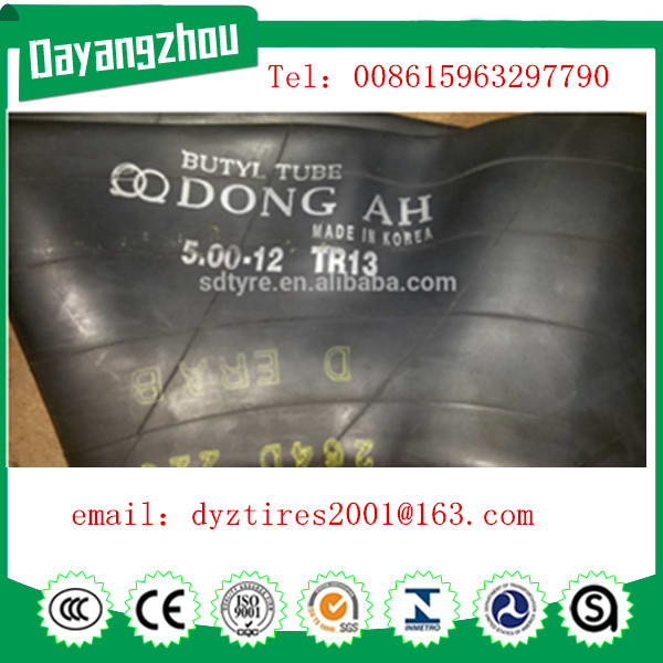 popular size very cheap truck tube 12.00-20 with Dongah brand
