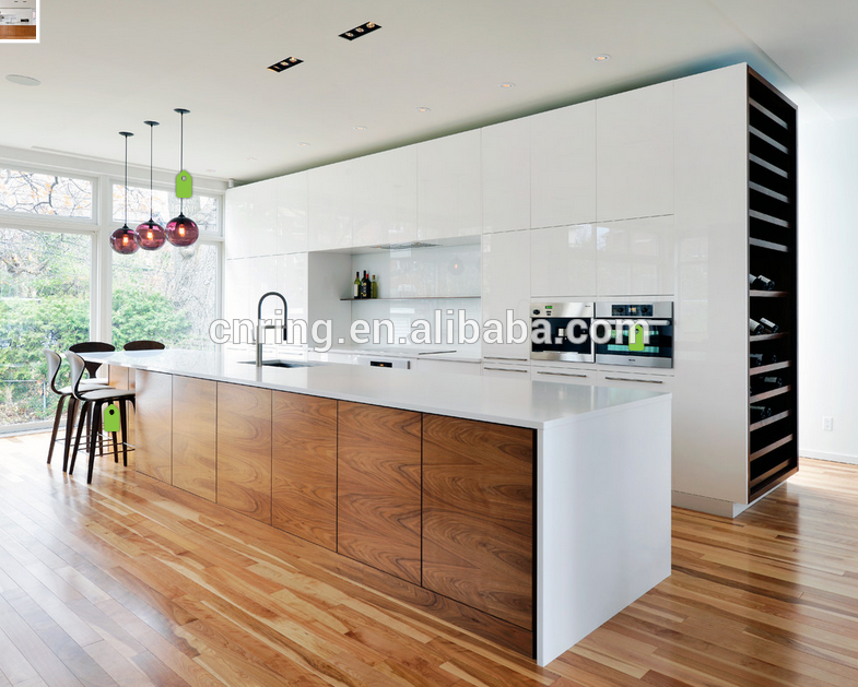 Contemporary wood kitchen cabinets furniture made in China
