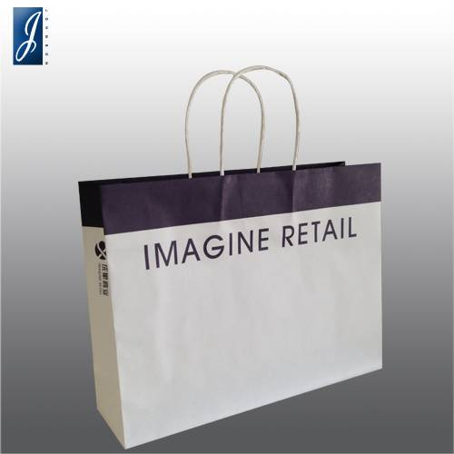 Customized medium white kraft garment bag for IMAGINE