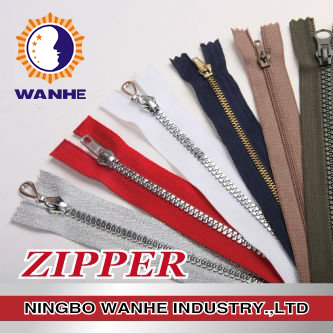 Metal zipper