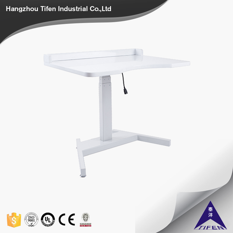 2017 hot selling new design one leg height adjustable office desk