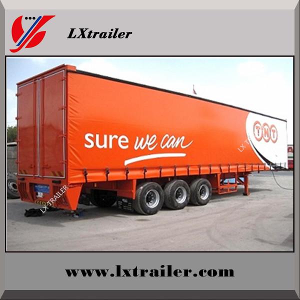 China PVC side curtain van-type semi trailer for logistics company