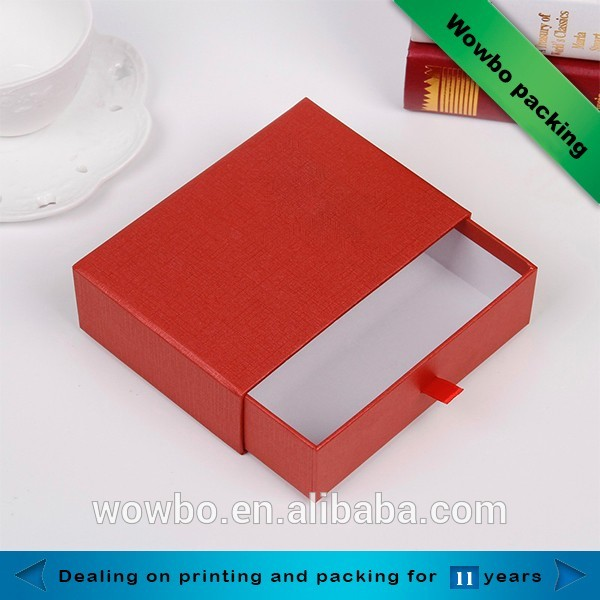 Customized sliding drawer shape gift box with color