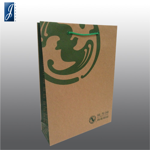 Customized brown kraft paper bag for FU