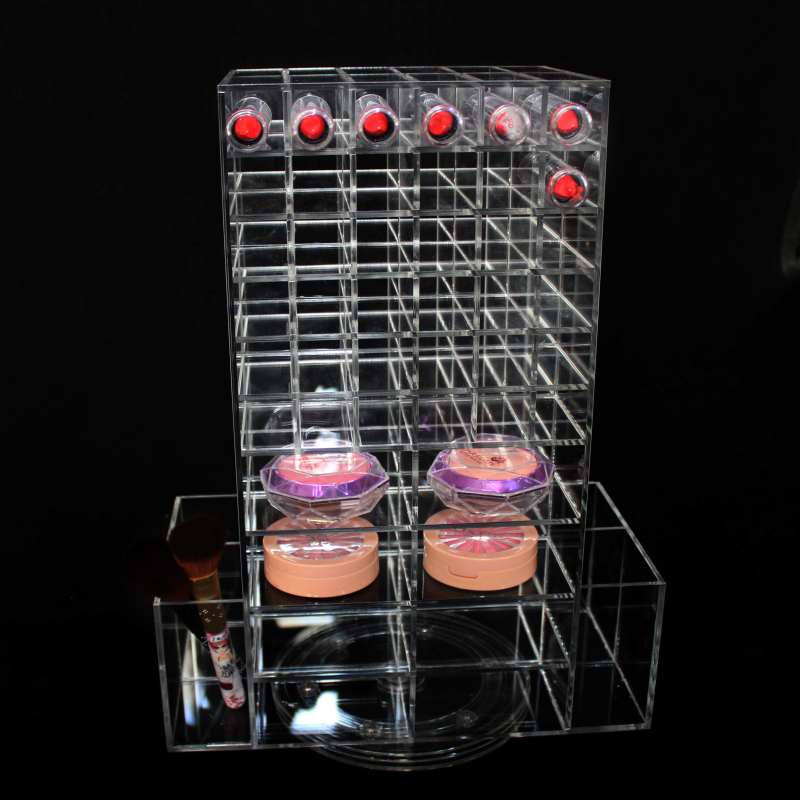 Acrylic Cosmetic Makeup Organizer Lipstick Holder For Retail Store And Supermarket