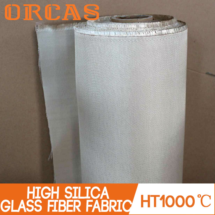 Light weight thermal insulation material high silica glass fiber fabric