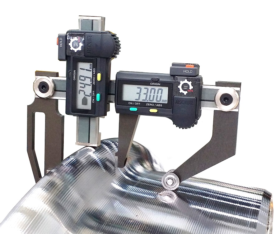 Portable Measurement Gauge for Train Wheel