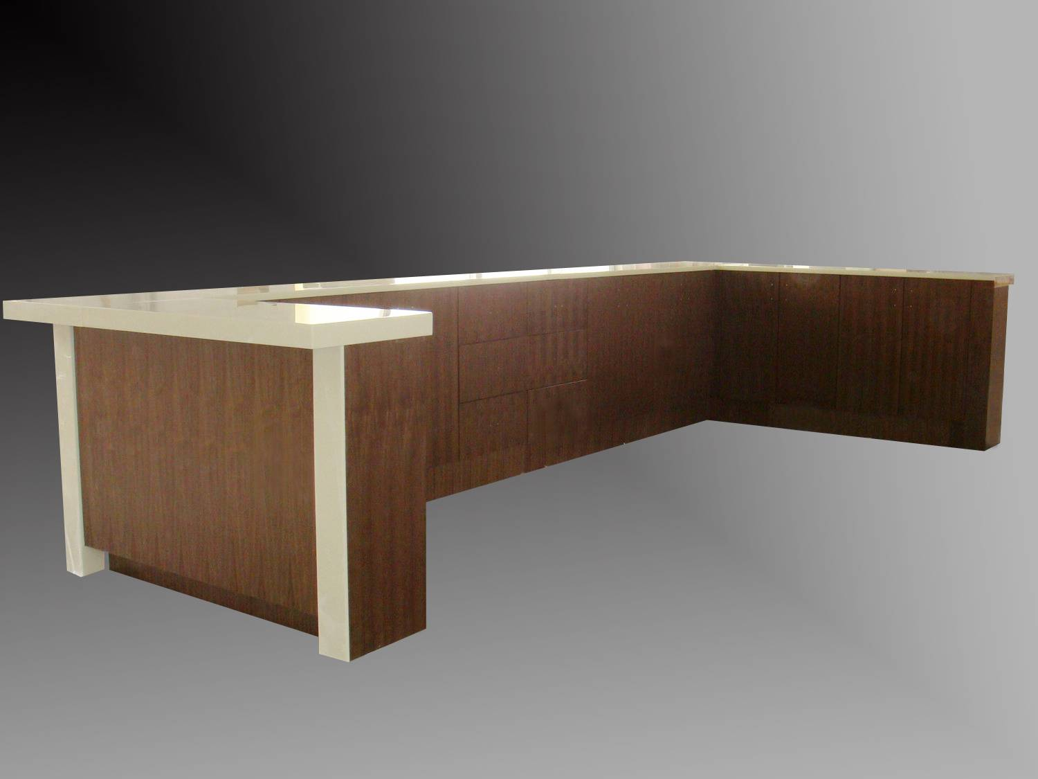 Wooden style night club bar counter - Tell World Solid Surface Co., Ltd