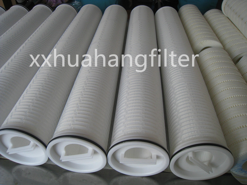 High Flowment water filter, PALL high flow pleated filter cartridge
