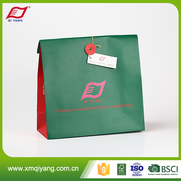 Custom printing recycled reusable paper shopping bag factory