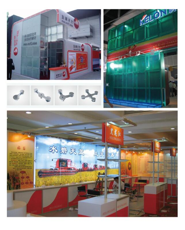 Fashion exhibition glass panel retainer system expo display equipment car show trade fair stand