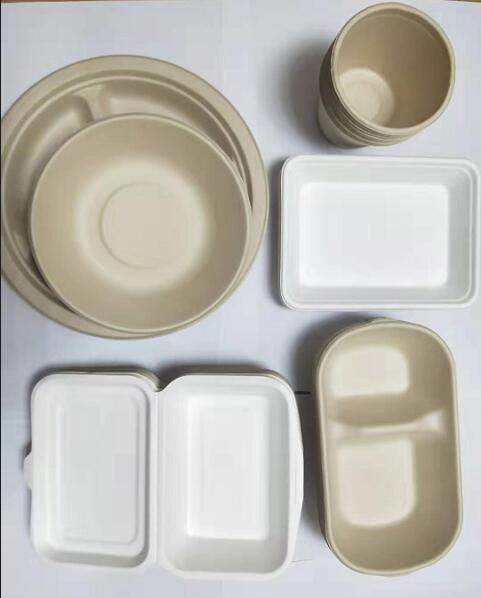 Disposable wheat straw pulp salad bowl