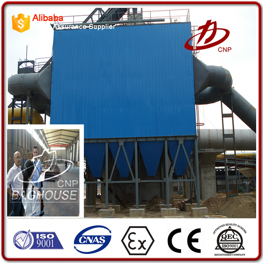 Industrial fabric bag filter dust collector