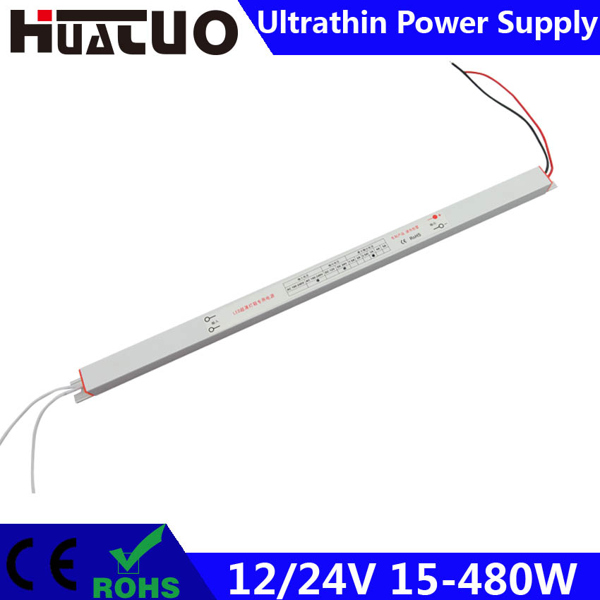 12/24V 15-480W constant voltage ultrathin LED power supply