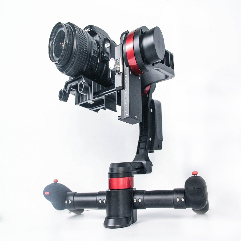 Adopted with AI tech 3-axis Gyro Stablizer Handheld DSLR Gimbal (Plug and Play) Suitable for 5D SLR